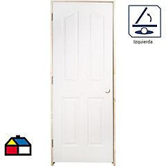 Kit puerta blanca 70x200 cm + marco izquierdo