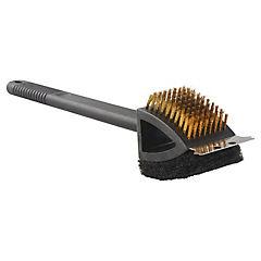 Cepillo raspador 3 en 1 para limpieza de parrilla