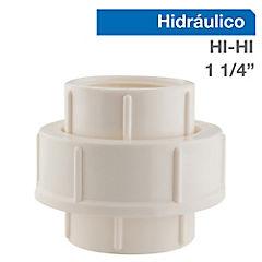 1 1/4'' HI-HI Union americana PVC presión
