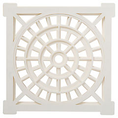 Rejilla para pileta 15 cm cuadrada Blanca