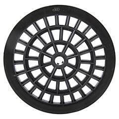 Rejilla para pileta 15 cm redonda Negra