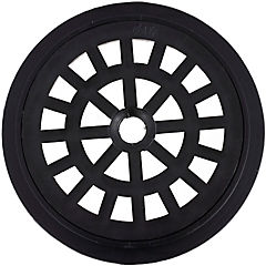 Rejilla para pileta 10 cm redonda Negra