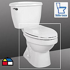 Taza de WC con asiento 6 litros blanco