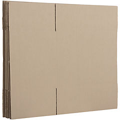 Caja de cartón corrugado de 5 unidades.