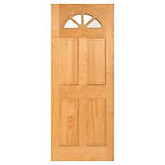 Puerta acceso pino Ibiza 90x210 cm