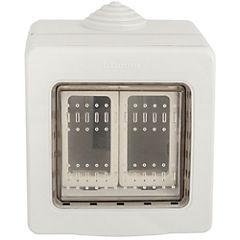 Caja interperie 2 módulo, Idrobox gris