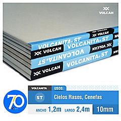 10 mm 120x240 cm Yeso-cartón borde rebajado