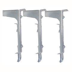 Set de escuadras dobles para mobiliario 3 unidades Cromado
