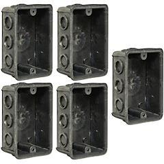 Set de cajas de derivación embutidas plástico 5 unidades