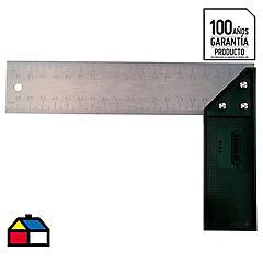 Escuadra carpintería 12'' aluminio Negro