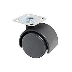 Rueda plástica giratoria con base 40mm