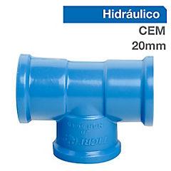 Set tee PVC para cementar 20x20 mm 10 unidades