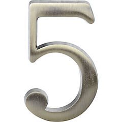 Número para casa #5 plateado