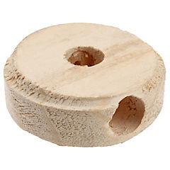Roseta de fijación redonda madera