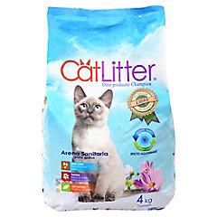 Arena sanitaria para gatos 4 kg.