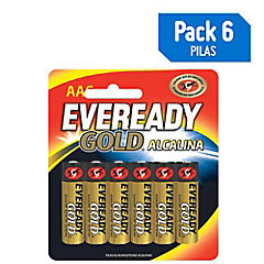 Pack 4 x 6 pilas AA Eveready Gold