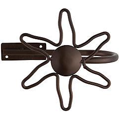 Abrazadera metal envejecido sol 25mm