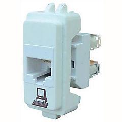 Conector RJ45-5E, blanco