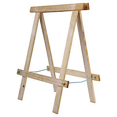 Caballete plegable madera 77x60x29,8 cm Café