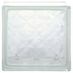 Bloque vidrio incoloro 19x19x8cm Checkers