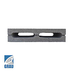 90x190x390 mm Bloque Cemento Liso Gris