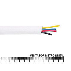 Cable telefónico 3 pares 24 AWG Blanco