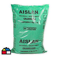 Lana mineral granulada 5 kg.