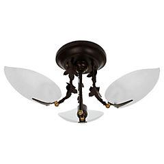 Lámpara colgar incand. Paulina cobre env 3x60W