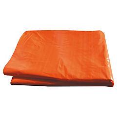 3 x 5 m Polietileno naranjo