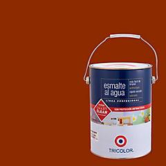 Esmalte al agua satinado 1 gl rojo colonial
