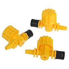 90° 60 l/h Microaspersor con Miniválvula Regulable 3 unidades
