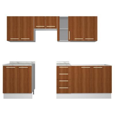 Combo mueble de cocina 11 puertas 4 cajones Canela - Sodimac.com