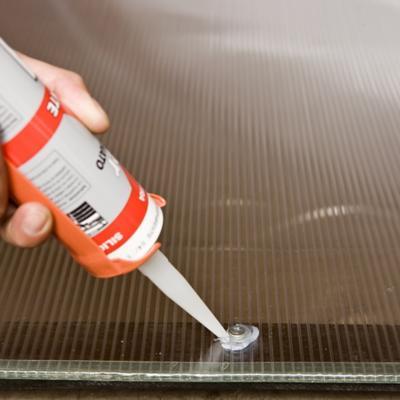 Silicona para PVC, espejos y policarbonatos
