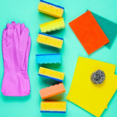 Esponjas, paños y guantes
