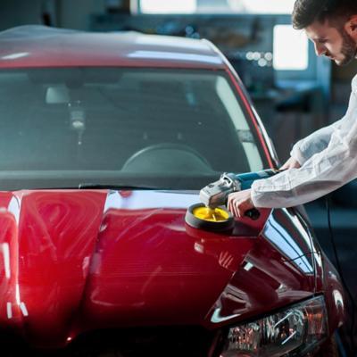 Brillo, pulido y reparación de autos