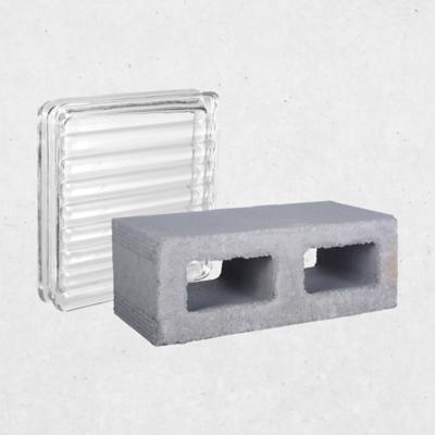 Bloques cemento y vidrio