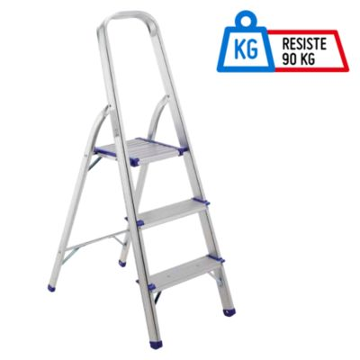 escalera tijera 3 pasos aluminio