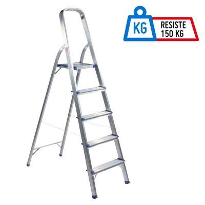 Escalera tijera aluminio 5 pasos for Escalera madera sodimac