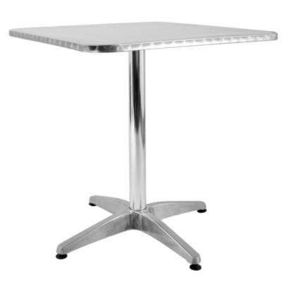 Mesa aluminio cuadrado 70x70 for Escalera plegable aluminio sodimac