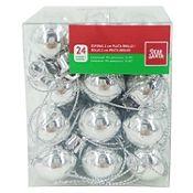 Esferas plata brillante 2cm x24