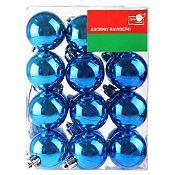 Set x 24 esferas azul brillante 4cm