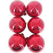 Esfera roja brillante 6cm x12