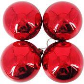 Esfera roja brillante 9cm x4