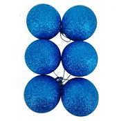 Esfera azul escarchada 6cm x12