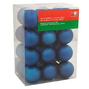 Esferas azul mate 4cm x24