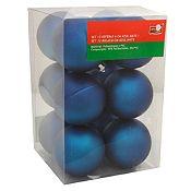 Esfera azul mate 6cm x12