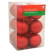 Esfera roja mate 6cm x12