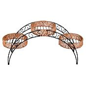 Parante arco para 3 macetas metal/ratán