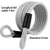 Cable con Cubierta 65D 1.8 m