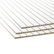Tablero MDF Ranurado Blanco 18 mm 1.52 x 2.44 m